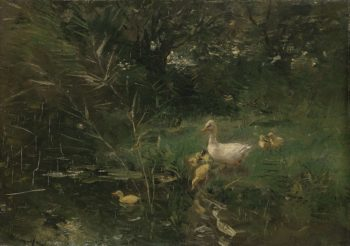 Ducklings. ca. 1880 - ca. 1907 | Willem Maris | oil painting
