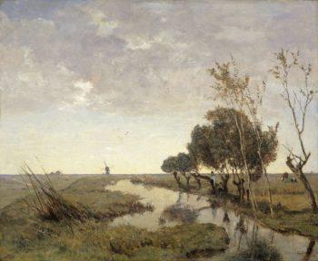 A watercourse near Abcoude. 1878 | Paul Joseph Constantin Gabri?l | oil painting