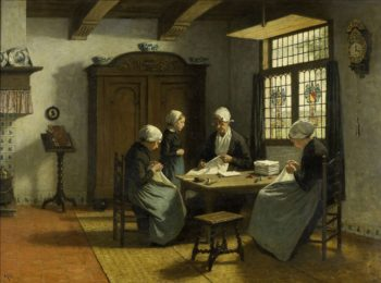 In the orphanage in Katwijk-In. ca. 1870 - ca. 1890 | David Adolph Constant Artz | oil painting