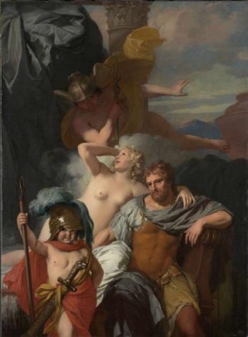 Mercury Ordering Calypso to Release Odysseus. ca. 1680 | Gerard de Lairesse | oil painting