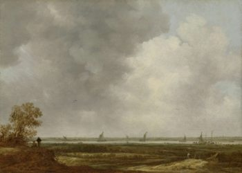 View over the floodplains of a river. in or after 1644 | Jan van Goyen | oil painting