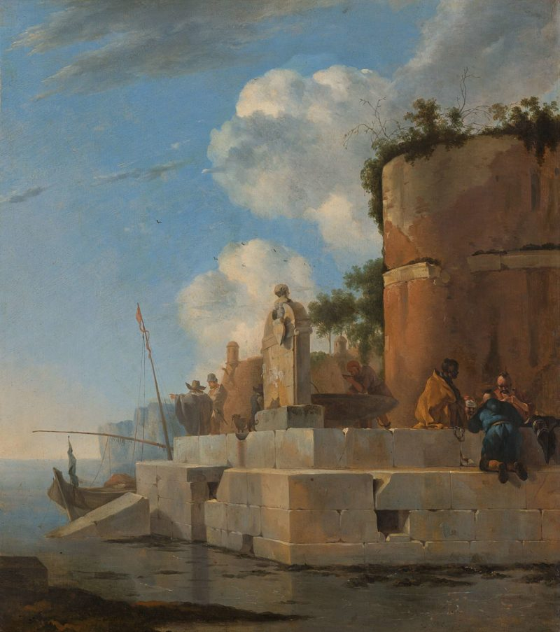 A Coastal Ruin in Italy. 1640 - 1652 | Jan Asselijn | oil painting
