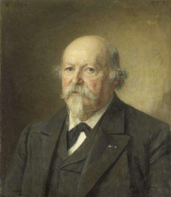 Johan Philip van der Kellen (1831-1906). Director of the Department of Prints (1876-96). 1904 | Jan Veth | oil painting