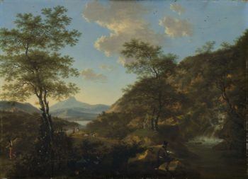 Italian Landscape with Draughtsman. 1650 - 1692 | Willem de Heusch | oil painting