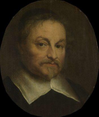 Joost van den Vondel (1587-1679). Poet. 1653   Govert Flinck   oil painting