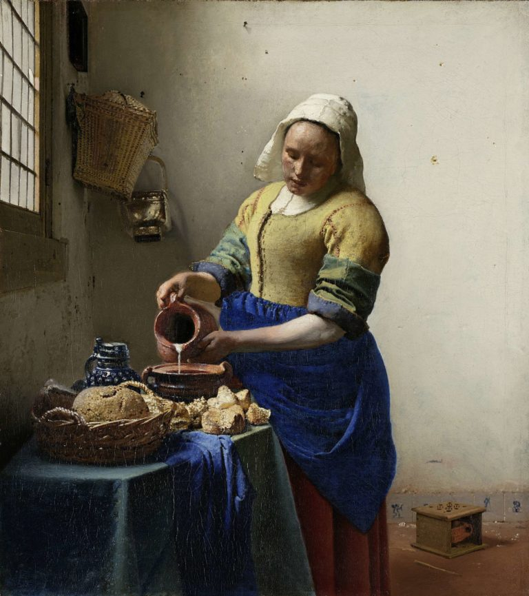 The Milkmaid. ca. 1660 | Johannes Vermeer | oil painting