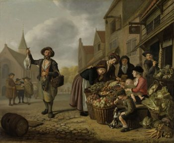 The greengrocer 'The Buys Kool'. 1654 | Jan Victors | oil painting