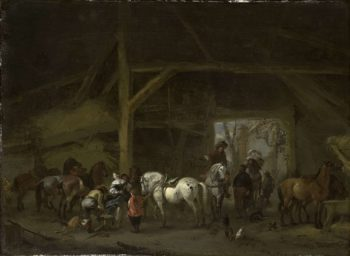 A stable. 1650 - 1668 | Philips Wouwerman | oil painting
