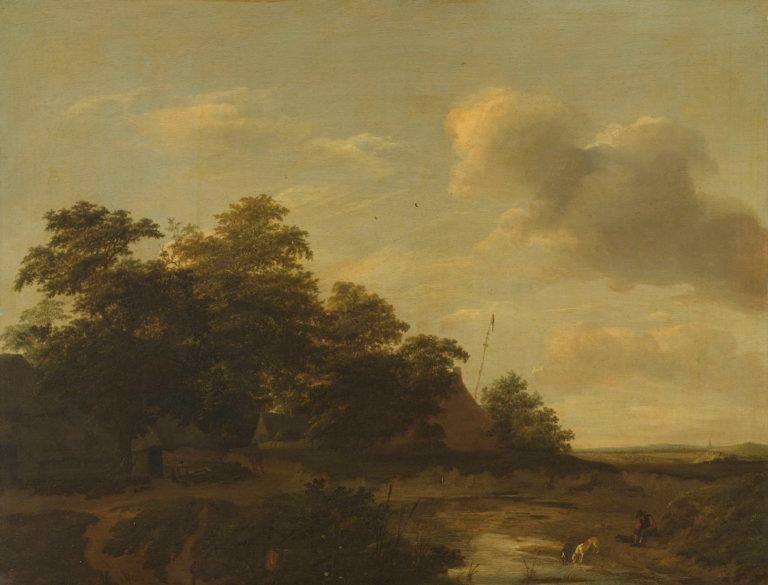 Landscape with farm. 1648 | Jan Vermeer van Haarlem (I) | oil painting