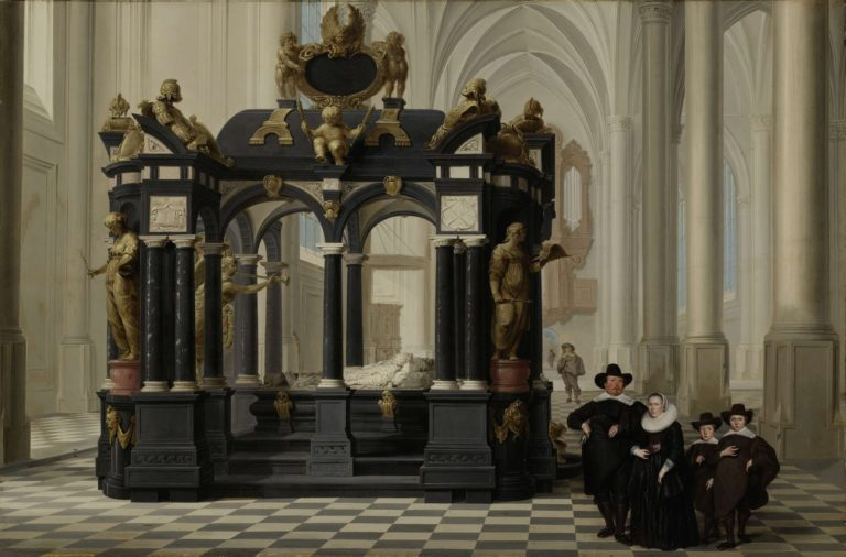 A Family beside the Tomb of Prince William i in the New Church