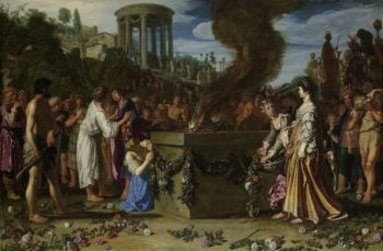 Orestes and Pylades Disputing at the Altar. 1614 | Pieter Lastman | oil painting