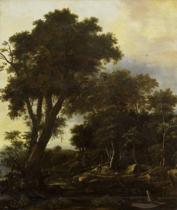 Wooded Landscape with hut. 1650 - 1692 | Roelant Roghman | oil painting