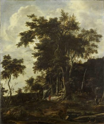 Wooded Landscape with loggers house. 1650 - 1692 | Roelant Roghman | oil painting