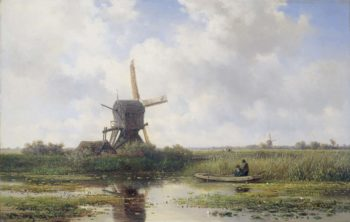In 't Gein at Abcoude. 1870 - 1897 | Willem Roelofs (I) | oil painting