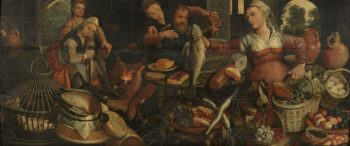 Kitchen Piece.. 1560 - 1565 | Pieter Aertsen | oil painting