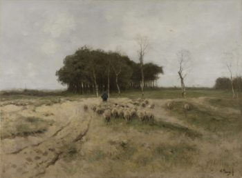 On the Heath near Laren. 1887 | Anton Mauve | oil painting