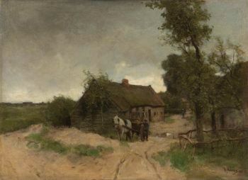 Cottage on the dirt road. 1870 - 1888 | Anton Mauve | oil painting