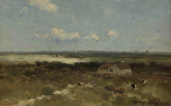 Dunes. 1870 - 1896 | Johan Hendrik Weissenbruch | oil painting
