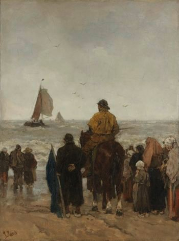 Arrival of the Boats. 1884 | Jacob Maris | oil painting