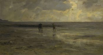 Beach at night. 1890 | Jacob Maris | oil painting