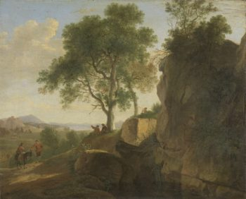 Italian landscape. 1643 | Herman van Swanevelt | oil painting