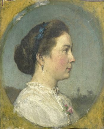 Catharina Hendrika Horn (1841-1905). Wife of the painter. ca. 1867 | Jacob Maris | oil painting