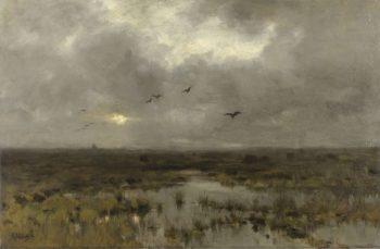The Swamp. ca. 1885 - ca. 1888   Anton Mauve   oil painting
