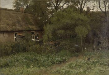 The Vegetable Garden. ca. 1885 - ca. 1888   Anton Mauve   oil painting