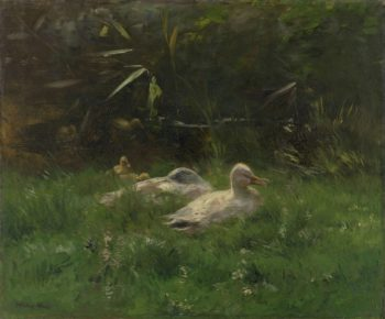 Ducks. ca. 1880 - ca. 1904 | Willem Maris | oil painting