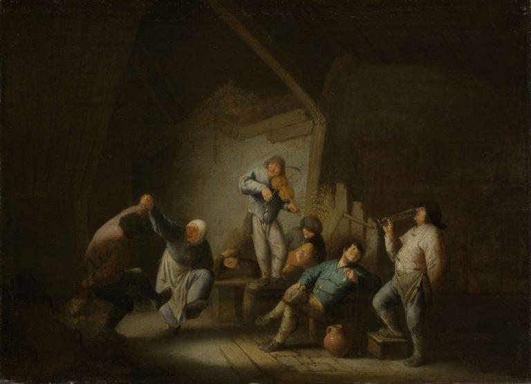 The dancing couple. 1625 - 1640 | Adriaen van Ostade | oil painting