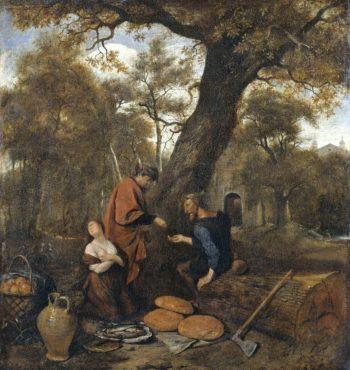 Erysichthon sells his daughter Mestra. 1650 - 1660 | Jan Havicksz. Steen | oil painting