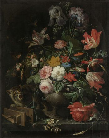 The overthrown bouquet. 1660 - 1679 | Abraham Mignon | oil painting
