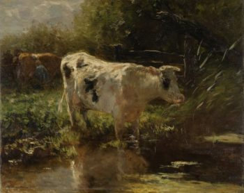 Cow beside a Ditch. ca. 1885 - ca. 1895 | Willem Maris | oil painting