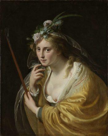 A Shepherdess. 1630 | Paulus Moreelse | oil painting