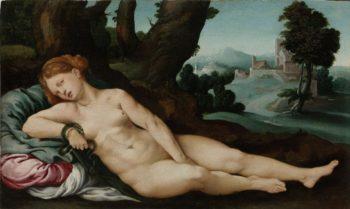 The dying Cleopatra. ca. 1520 - ca. 1524 | Jan van Scorel | oil painting