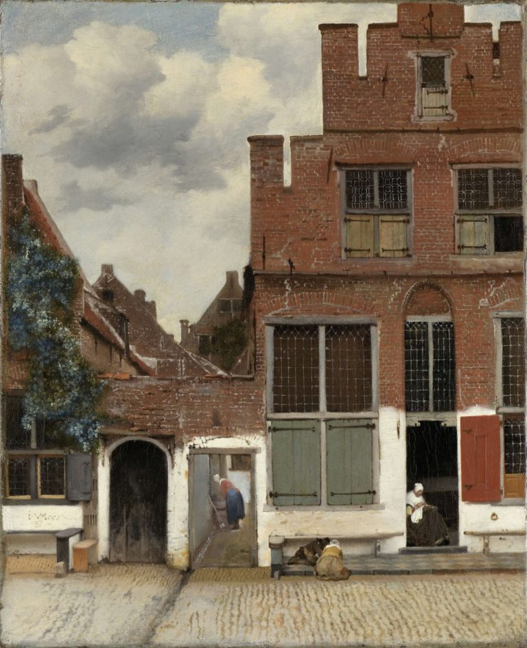 View of Houses in Delft