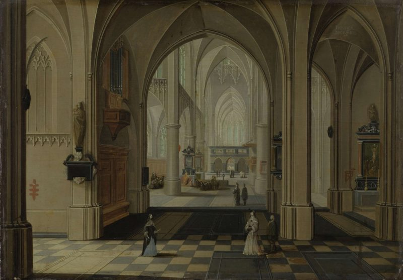 A church interior. 1630 - 1675 | Pieter Neefs (II) | oil painting