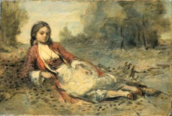 Alg?rienne. 1871 - 1873 | Camille Corot | oil painting