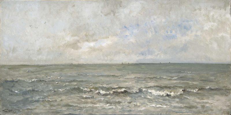Seascape. 1876 | Charles Fran?ois Daubigny | oil painting