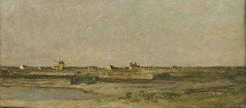 Landscape. 1840 - 1878   Charles Fran?ois Daubigny   oil painting