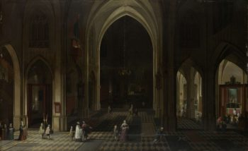A church interior by candlelight. 1636 | Pieter Neefs (I) | oil painting
