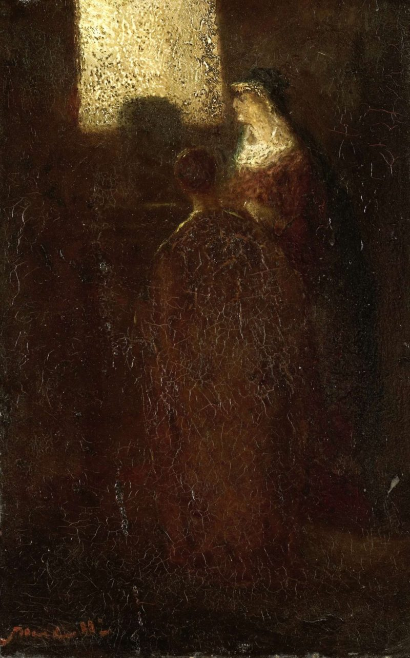 At the altar. 1870 - 1886 | Adolphe Joseph Thomas Monticelli | oil painting
