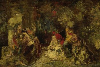 Women in a forest. 1870 - 1886 | Adolphe Joseph Thomas Monticelli | oil painting