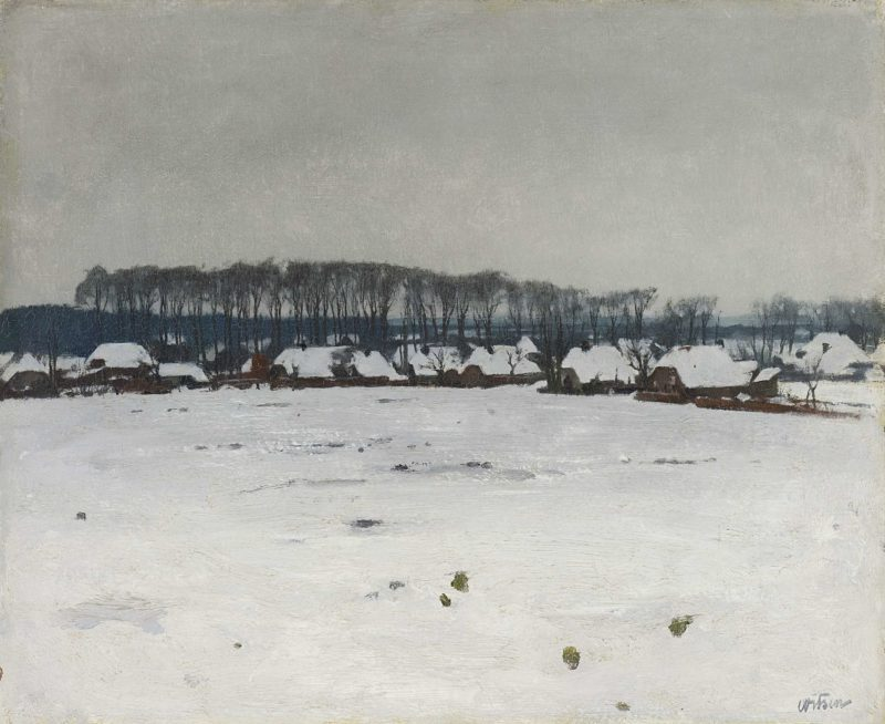 Winter Landscape. ca. 1885 - ca. 1922   Willem Witsen   oil painting