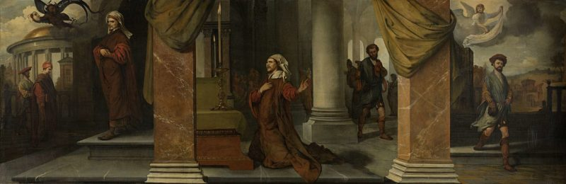 The Pharisee and the Publican. 1661 | Barent Fabritius | oil painting