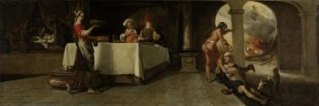 The rich man and Lazarus. 1661 | Barent Fabritius | oil painting
