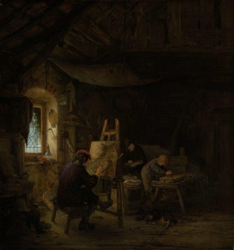 The Painter's Studio. ca. 1670 - ca. 1675 | Adriaen van Ostade | oil painting