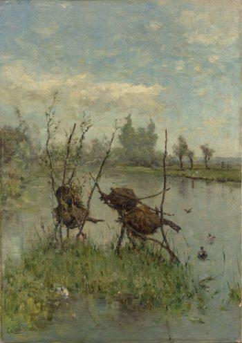Nesting Ducks. ca. 1890 - ca. 1900 | Paul Joseph Constantin Gabri?l | oil painting