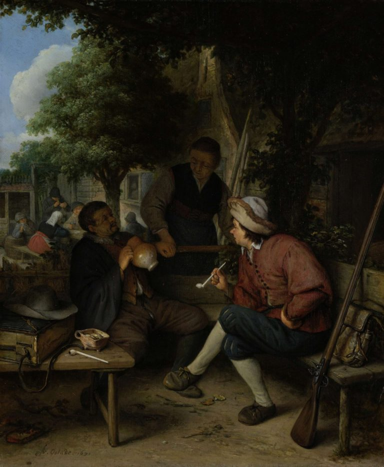 Travelers at Rest. 1671 | Adriaen van Ostade | oil painting