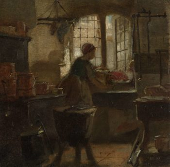 Kitchen. 1859 | Matthijs Maris | oil painting
